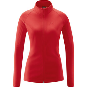 Maier Sports Ines Microfleece Jacket Women, tango red